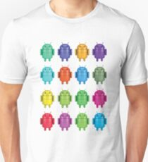 Android Andy Warhol color effect style T-Shirt