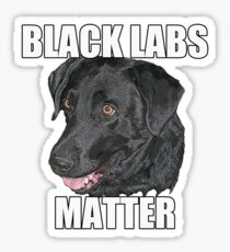 Black Labs Matter Two Sticker