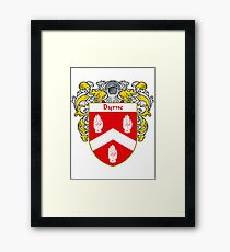 Byrne Coat of Arms/Family Crest Framed Print