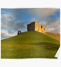 Duffus Castle on a winters day. Poster