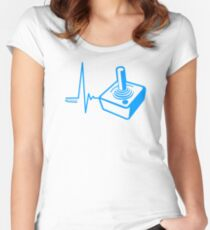 Gamer Heart Beat Women's Fitted Scoop T-Shirt