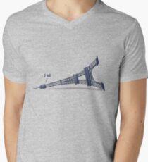 I Fell Tower Mens V-Neck T-Shirt