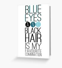 Magnus Bane: Blue Eyes and Black Hair 2 Greeting Card