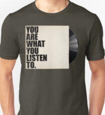 Camiseta unisex Eres lo que escuchas