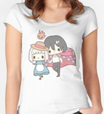 Howls Moving Castle - Studio Ghibli Women's Fitted Scoop T-Shirt