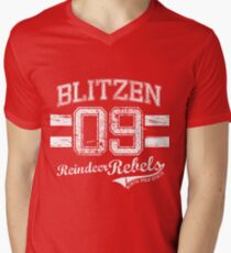 Blitzen Reindeer Rebel Men's V-Neck T-Shirt