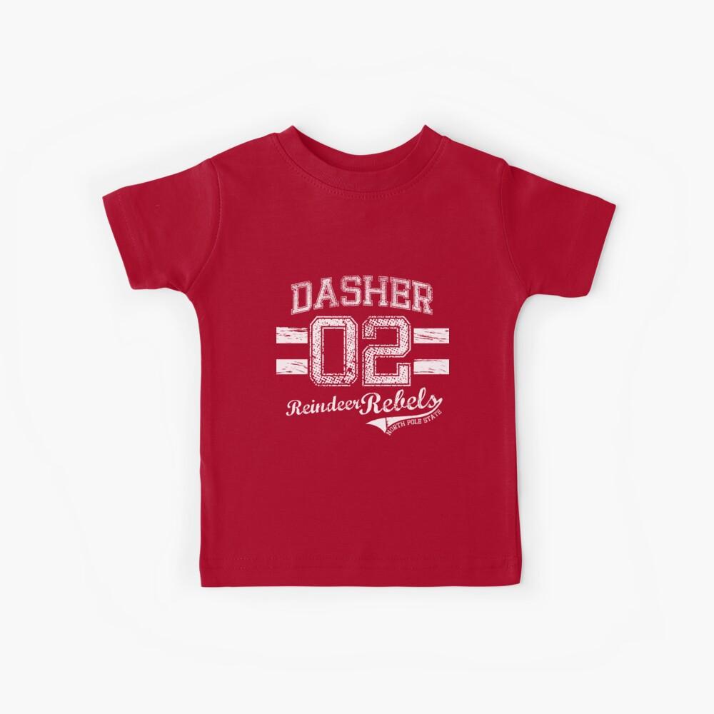 Dasher Reindeer Rebels Kids T-Shirt