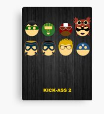Minimalist Posters: Kick-Ass 2 Canvas Print