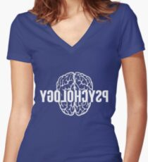 Reverse Psychology Women's Fitted V-Neck T-Shirt