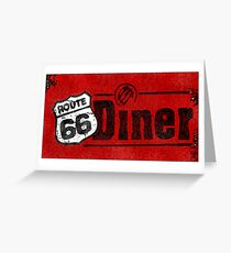 Route 66 Diner Sign Greeting Card