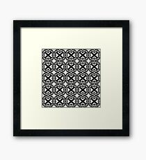 circles, stripes, and x's Framed Print