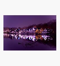 Philadelphia Boathouse Row Photographic Print