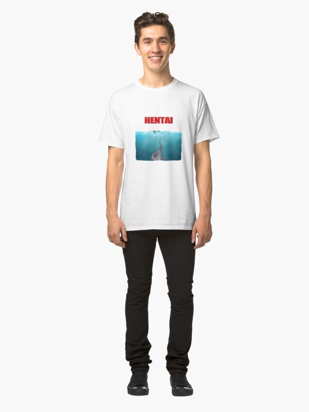 Vista alternativa de Camiseta clásica Tentáculos Hentai