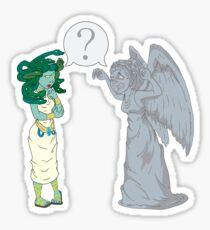 Medusa VS Angel Sticker