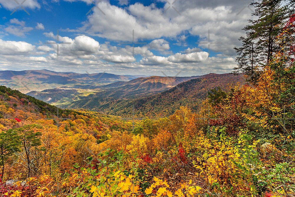 Cool Springs Overlook on Fort Mountain by Bernd F. Laeschke