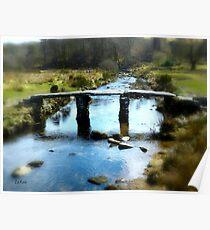 Clapper Bridge in Dartmoor Poster