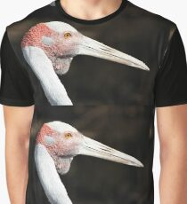 Brolga Portrait Graphic T-Shirt