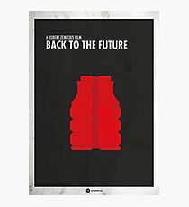 Back to the Future Minimal Film Poster Photographic Print