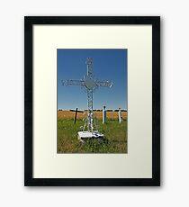 Cross and Graveyard Framed Print