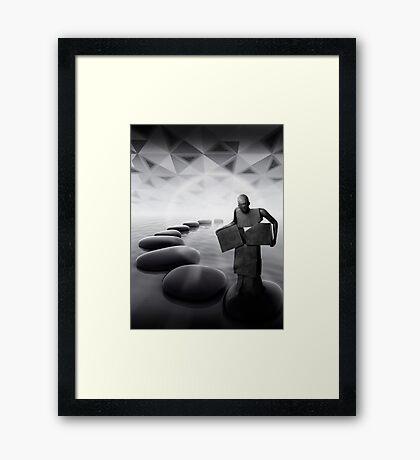 Circles & Squares Framed Print