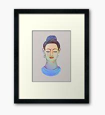 Blue buddha close up Framed Print