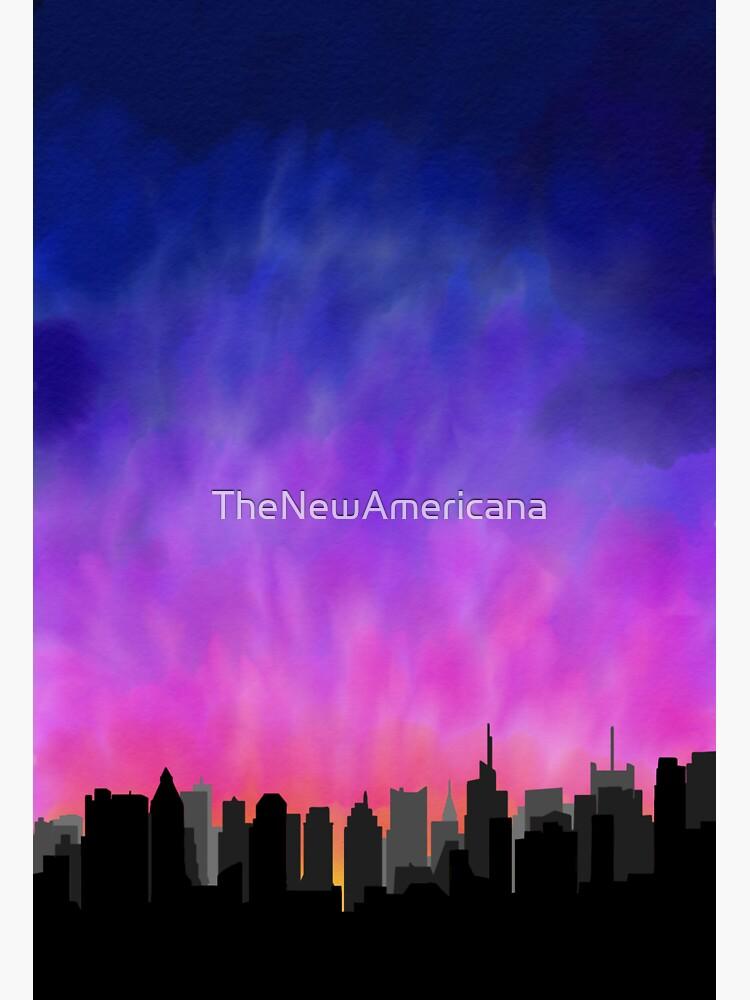 New York City Skyline Sunset de TheNewAmericana