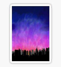 Pegatina New York City Skyline Sunset