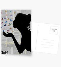 butterfly kisses Postkarten