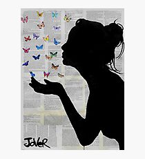 butterfly kisses Photographic Print