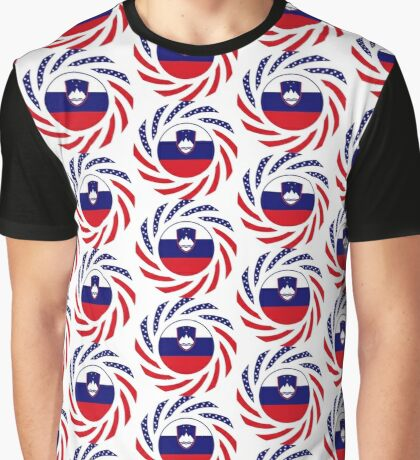 Slovenian American Multinational Patriot Flag Series Graphic T-Shirt