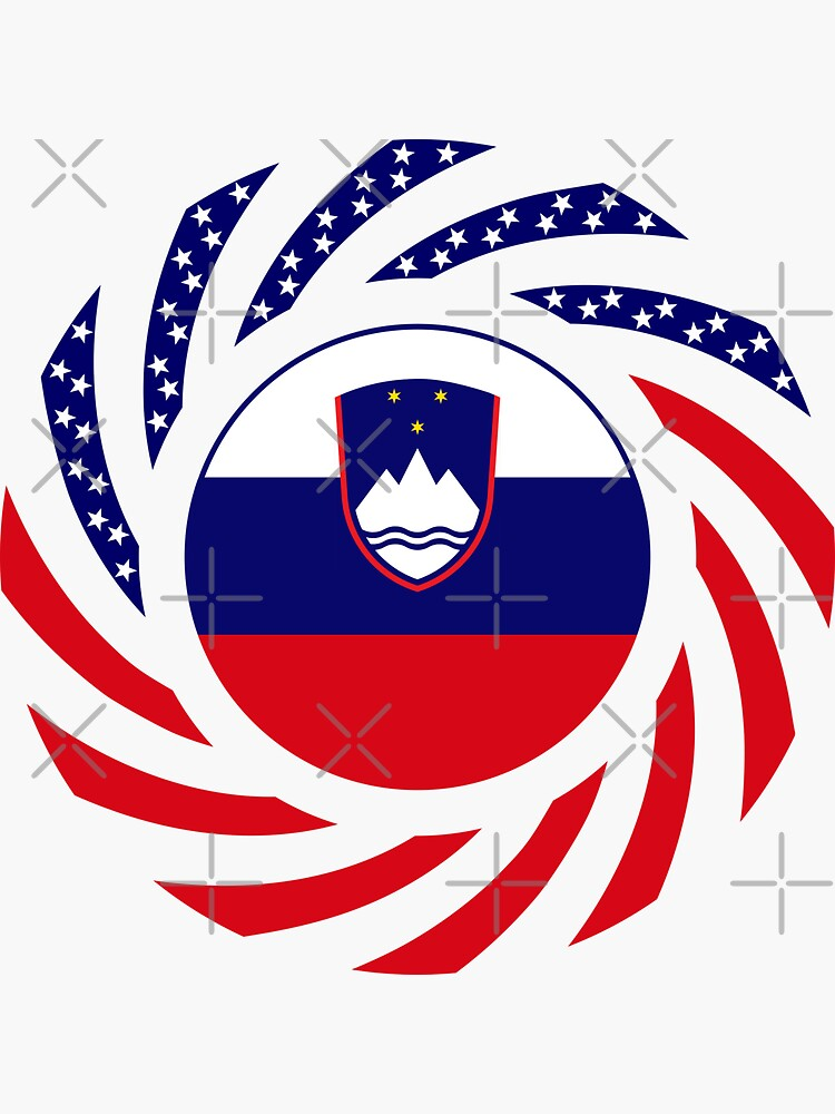 Slovenian American Multinational Patriot Flag Series by carbonfibreme