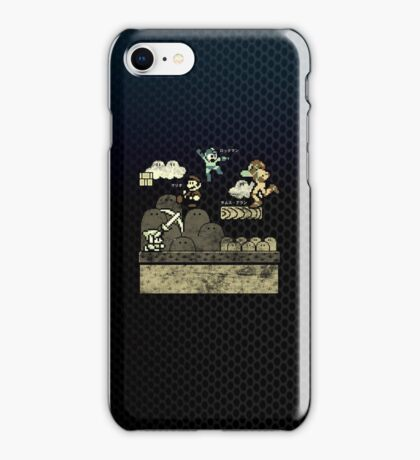 Mega Man Joins The Battle! iPhone Case/Skin