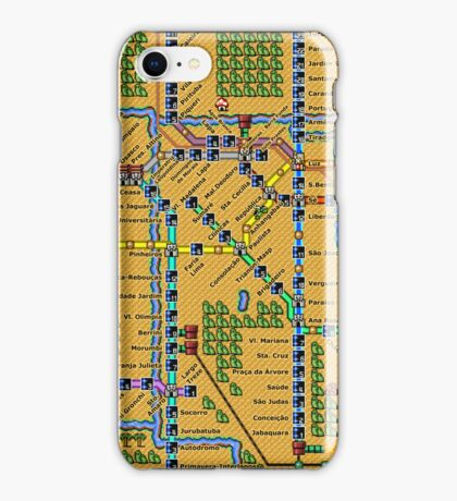 São Paulo City Metropolitan Transportation Map iPhone Case/Skin
