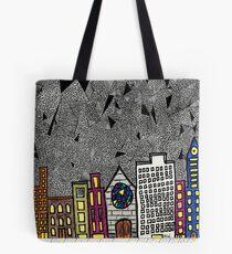 Big City Snow Fall Tote Bag