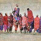 MASAI MEN JUMPING by Susana Weber