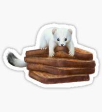 Toast Weasel 2 Sticker