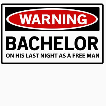 Warning. Bachelor on his last night as a free man by bridal