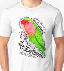 Rosy-faced lovebird; Rooiwangparkiet Unisex T-Shirt