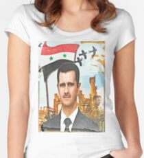 Still Standing - Syria Al Assad Women's Fitted Scoop T-Shirt