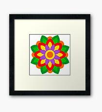 FLOWER ART IN BRUSH AND GOUACHE Framed Print
