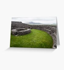 Cahergall Stone Fort Greeting Card