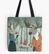 Winter tea together Tote Bag