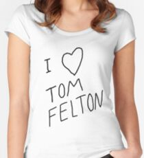 """I ❤ Tom Felton"" replica tee Women's Fitted Scoop T-Shirt"