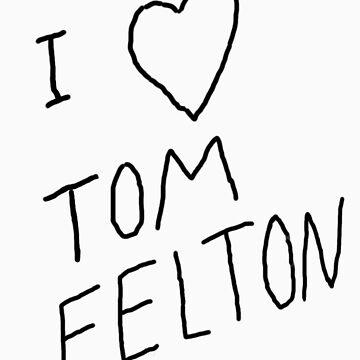 """""""I ❤ Tom Felton"""" replica tee by LovelieeJ92"""