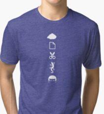 Rock Paper Scissors Lizard Spock Tri-blend T-Shirt
