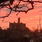Sunset over warkworth castle northumberland by Waggywag
