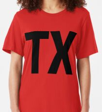 Texas TX Black Ink Slim Fit T-Shirt