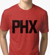 Phoenix Sky Harbor International Airport Black Ink Tri-blend T-Shirt