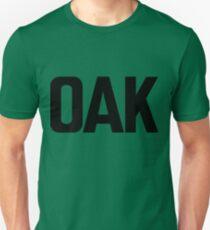 OAK Oakland International Airport Black Ink Unisex T-Shirt