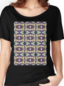 abstract teal and purple Women's Relaxed Fit T-Shirt